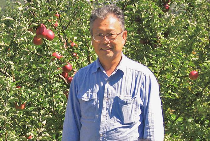 つがる(早生りんご)生産者、長野県下伊那郡松川町 農事組合法人増野 田中光明さん