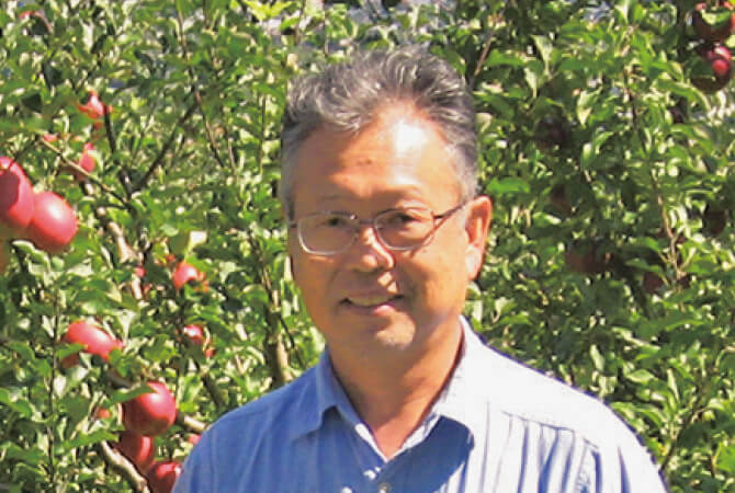 つがる(早生りんご)生生産者、長野県松川町 農事組合法人増野 田中光明さん