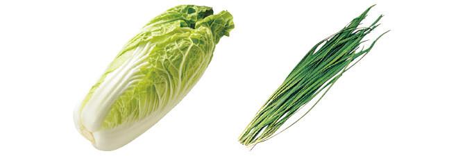 ミニ白菜・1コ&ニラ・100g