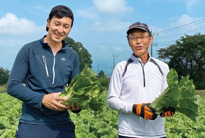 ミニ白菜生産者、群馬県昭和村 野菜くらぶ 林 美之・駿一さん