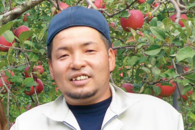 つがる(早生りんご)生産者、青森県黒石市 新農業研究会 山形裕介さん