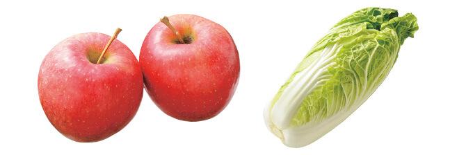 10月のりんご・450g&ミニ白菜・1コ