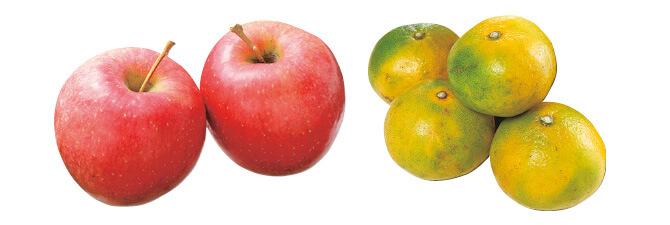 10月のりんご・450g&極早生温州みかん・400g
