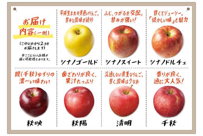 10月のりんごお届け内容の一例
