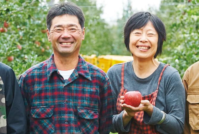長野県松本市の生産者、原俊朗さん(左)と原明子さん(右)